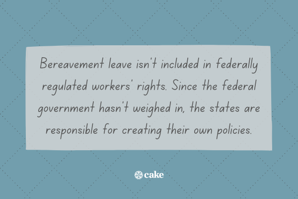 Fact about bereavement leave