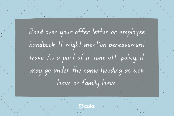 Fact about getting bereavement leave through your employer