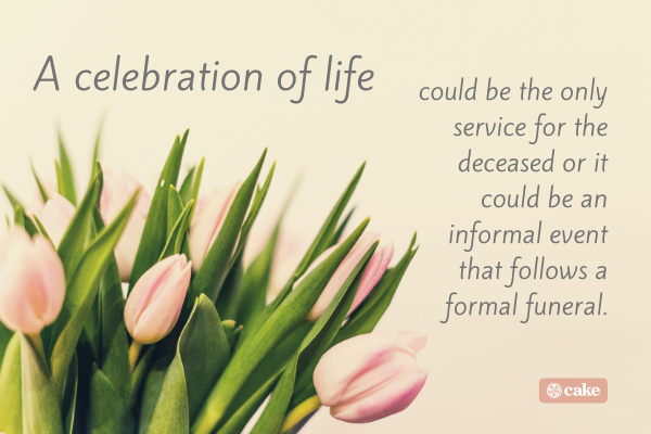 Text on what a celebration of life is