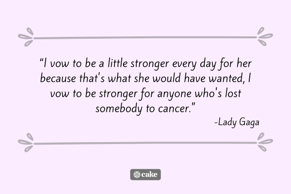 Quote from an example eulogy for a friend