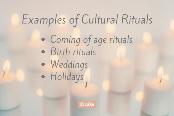 List of examples of cultural rituals