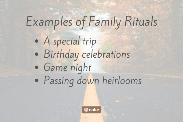 List of examples of family rituals