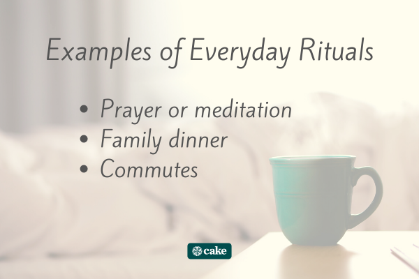 List of examples of everyday rituals