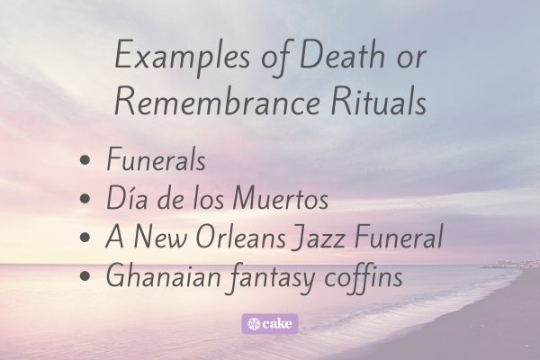 List of examples of death or remembrance rituals