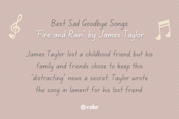 Example of a sad goodbye song with images of music notes