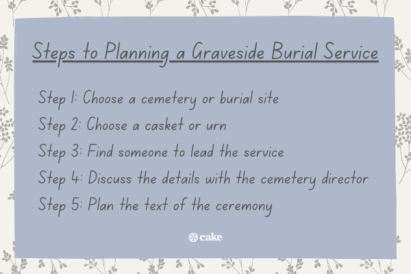 Steps to planning a graveside burial service