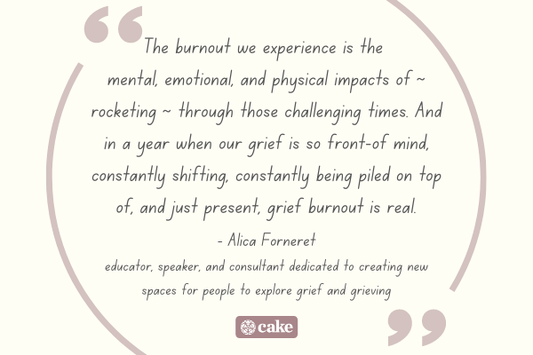 Quote about grief and burnout