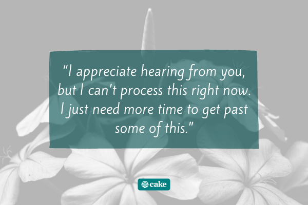 Quote on how to respond to an apology