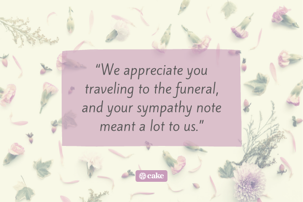 Quote on how to respond to condolences message