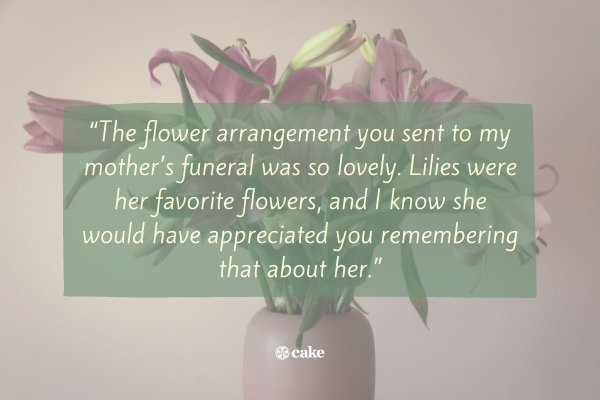 Quote on how to respond to condolences message online
