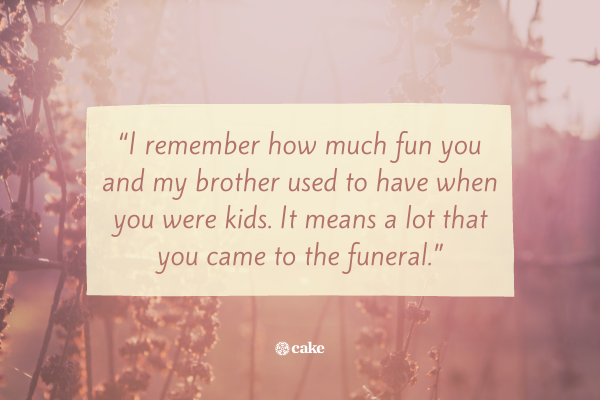 Quote on how to respond to condolences message in person