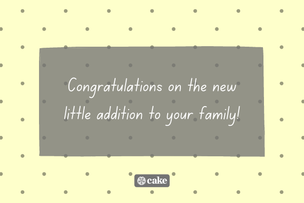 Text with example of how to wish someone congrats on their new baby