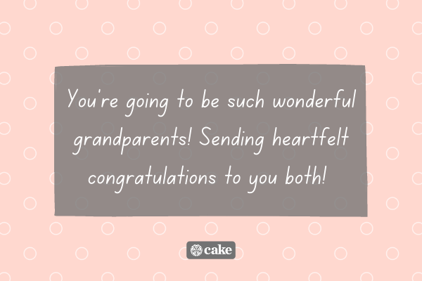 Text with example of how to wish grandparents congrats on their new grandchild