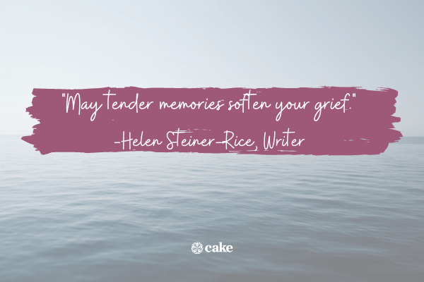 Another way to say Rest in Peace with an image of the ocean in the background