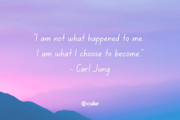 Example of a quote about being a survivor with an image of the sky in the background