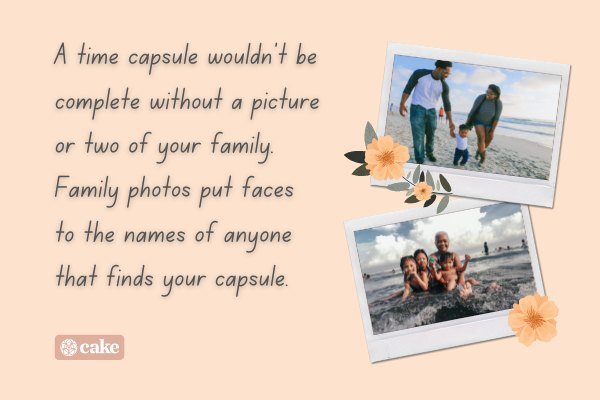 Text with pictures of families