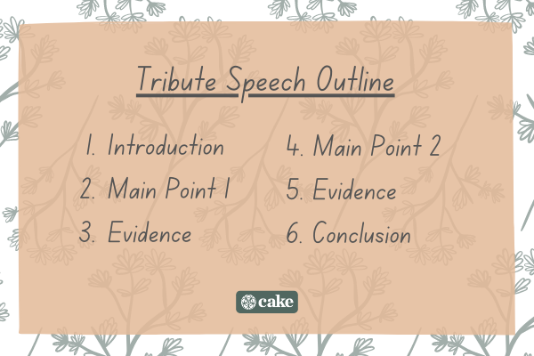 Tribute speech outline example