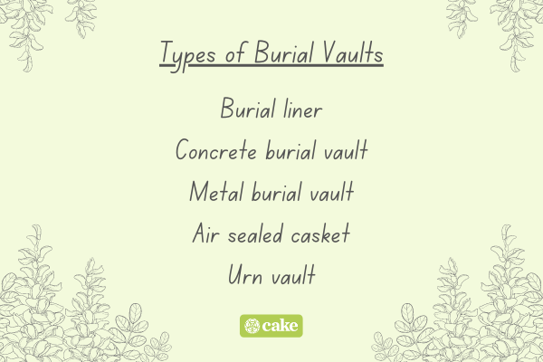 List of types of burial vaults with images of plants