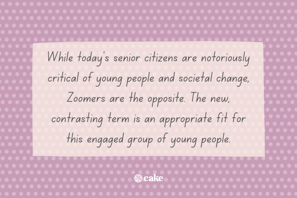 Text describing who zoomers are